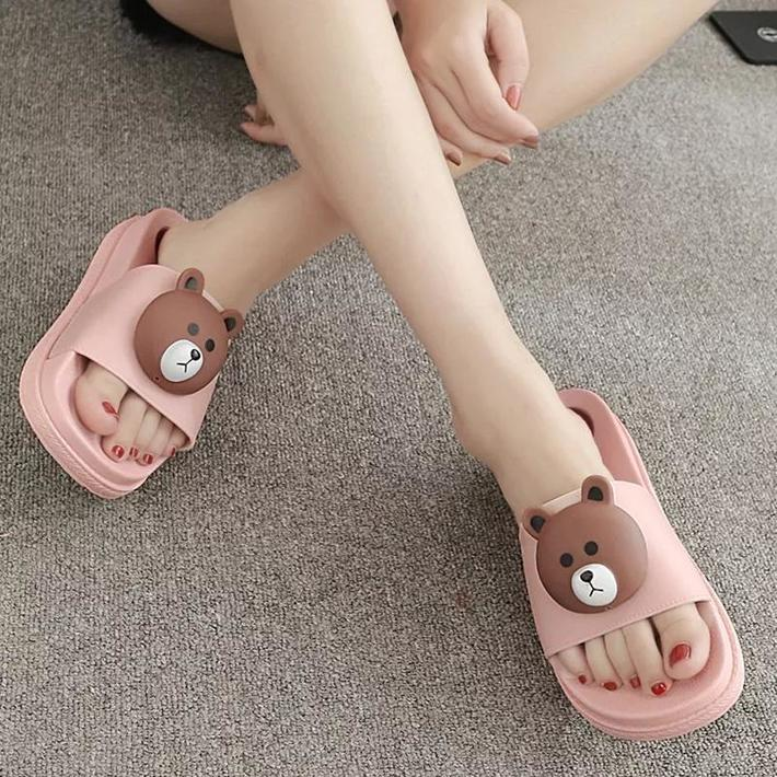 High-Heeled Sandals Anti Landslide With Large Base Drag Muffin Slippers