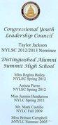 Taylor Wattree-Jackson, Congressional Youth Leadership Council