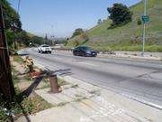 S. La Brea Ave. at the DWP service road entrance