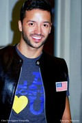 Jai Rodriguez Models Brandt Skinz Leather Jacket by Les Brandt