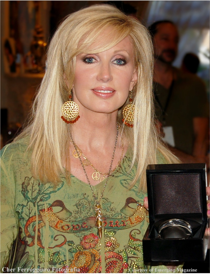 Morgan Fairchild Receives Gifts at the 2009 Emerging Magazine Pre-Emmy Gift Suite