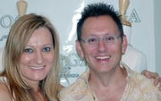Michael Emerson and Gordana Gelhausen Pose For The Cameras at Emerging Magazine's Pre-Emmy Gift Suite