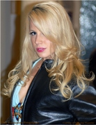 Jaimie Hilfiger Models Brandt Skinz Leather Jacket during 2009 Emerging Magazine Emmy Gift Suite