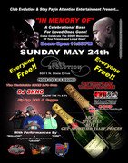 """IN MEMORY OF"" A Celebrational Bash For Loved One's Gone! ""DAYTON, OHIO Club Evolution"