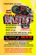 Perform at Black Bike Week - Bikefest Memorial Day Weekend, Atlantic Beach, SC