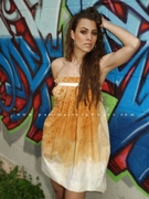 2011 collection Hand dyed Pleated Bubble