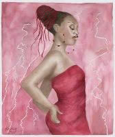 simply_red_bernice_kendrick_watercolor_painting_picture_woman_in_red_dress