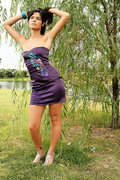 Purple Exotic Bird Dress