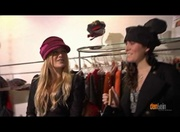 Julia and friend being filmed in a store in paris