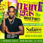 Mardi Gras Boat Party All Star Weekend 2017 hosted by Safaree