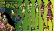 """""""Afternoon in the Amazon"""" Third View- Fashion Design"""