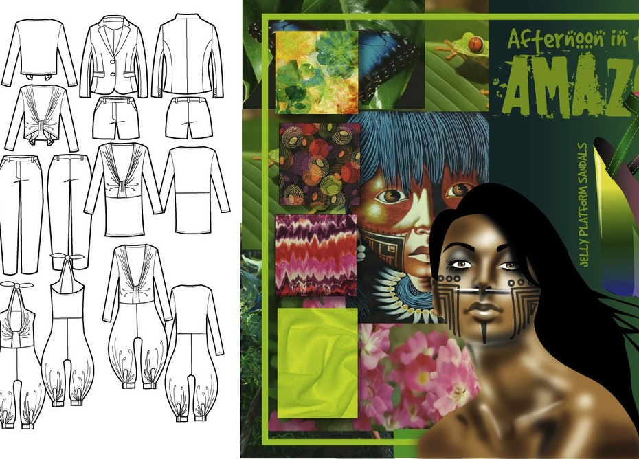 """Afternoon in the Amazon"" First View- Fashion Design"