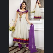 Amazing Salwar Suit in Gleaming White Color