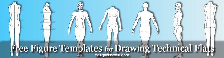 Free Templates for Technical Flat Drawing