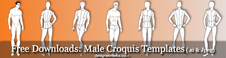 Free Downloads: Male Croquis Templates
