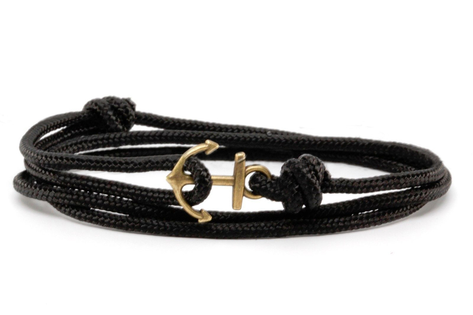 anchor bracelet  solid black13-1