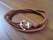 anchor bracelet brown 21-1
