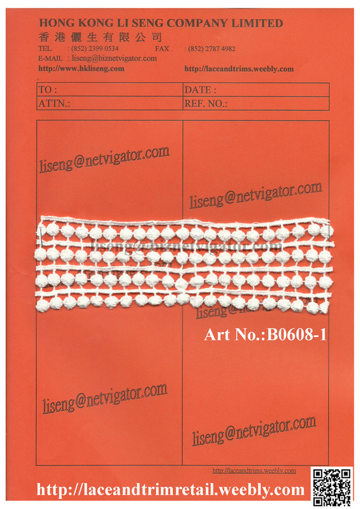 Chemical Lace Trims Art No.: B0608-1