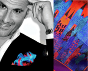 """Laurent with """"The city"""" pocket square"""