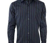 Blue on Black Striped Shirt Supplier and Wholesaler
