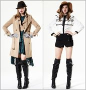 Trench Coat and Bow Blouse
