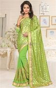 Awesome Twinset Model Of Fancy Blouse And Stylish Saree For Party Wear