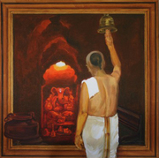 Paintings exhibition by Shravan Gurav at Nehru centre,Worli