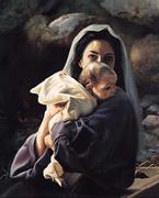 Jesus no colo de Maria