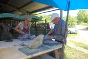 Beeldhouwworkshop op camping La Forêt du Morvan