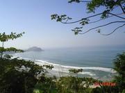 Praia do Éden subida de Surucutuba Guarujá