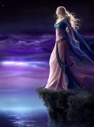 A Deusa no alto de um penhasco
