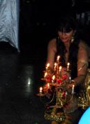 Dançar com candelçabro...