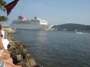 Ponta da Praia  ( Navio de Turismo saído do Porto de Santos)