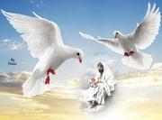 JESUS COM POMBAS E CRIANÇA