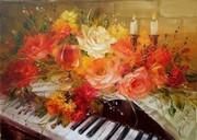 floral com piano