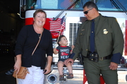 With our Grandson at Fire Station 21, San Diego, CA