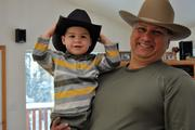 With my Grandson in AK