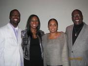 Marcus Wiley, Yolanda, Nicole & Bro Larry Jones