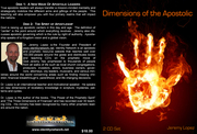 DIMENSIONS OF THE APOSTOLIC -CD SERIES- BY JEREMY LOPEZ