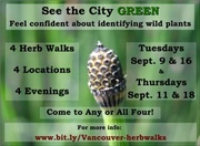 See the City GREEN - the Herb Walk Series