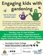 *Seedy Saturday: Engaging Kids with Gardening