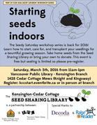 *Seedy Saturday: Starting seeds indoors