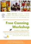 *Canning! (FREE workshop)