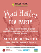 Mad Hatter Garden Inspired Tea Party at Riley Park Garden