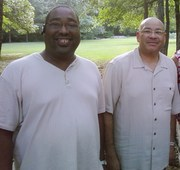 Me and Pastor Shepherd at Church Picnic