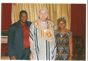 Bishop Albert and his wife with Bishop David
