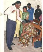 Bishop Albert exercising his ministry