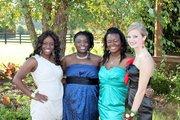 my grandaughter TONI In blue dress & her friends
