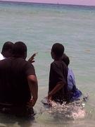 Explaining baptism to the youth.
