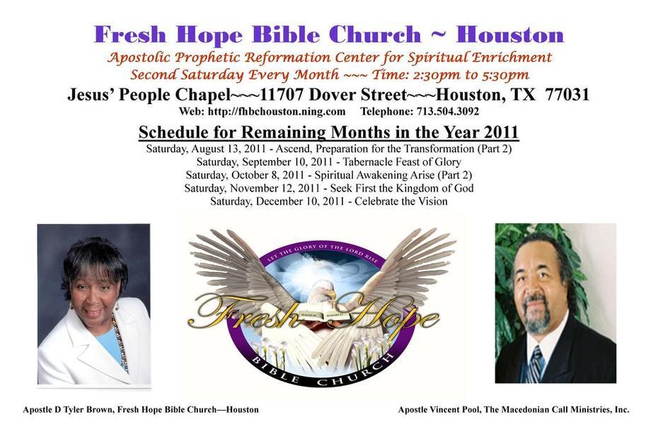 Fresh Hope Bible Church - Houston